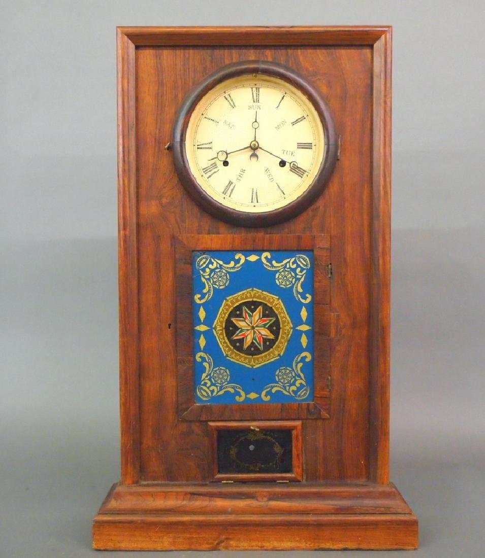 L F & W W Carter Calendar shelf clock