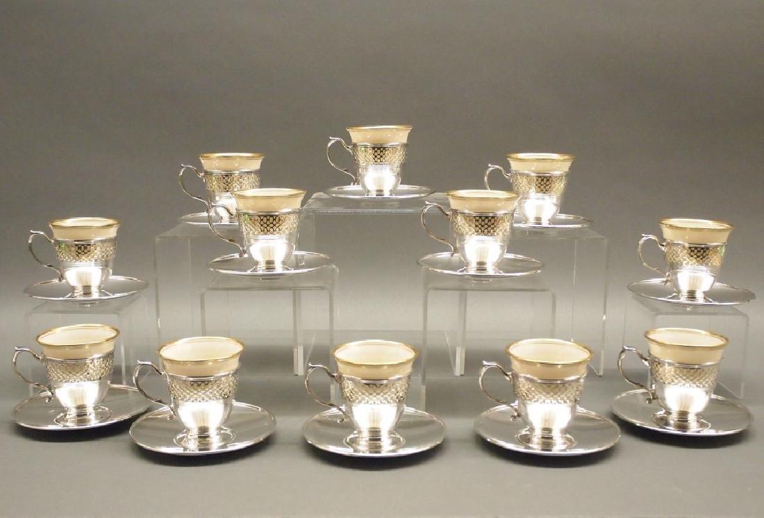 12 Tiffany Sterling Silver demi tasse cups