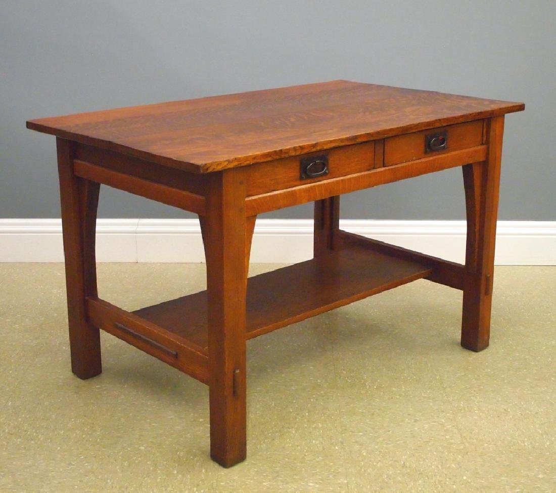 Gustav Stickley Arts and Crafts library table