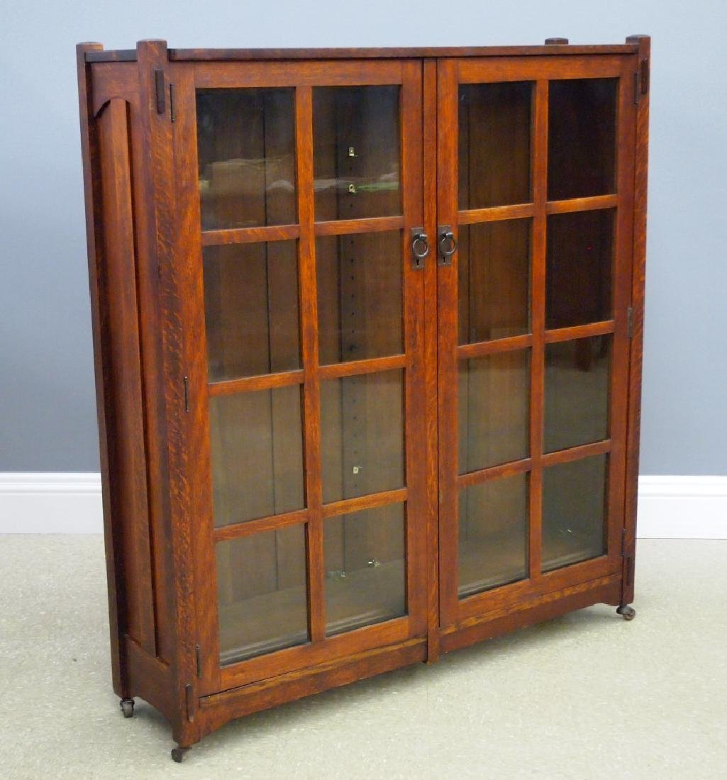 Stickley Brothers Arts and Crafts bookcase