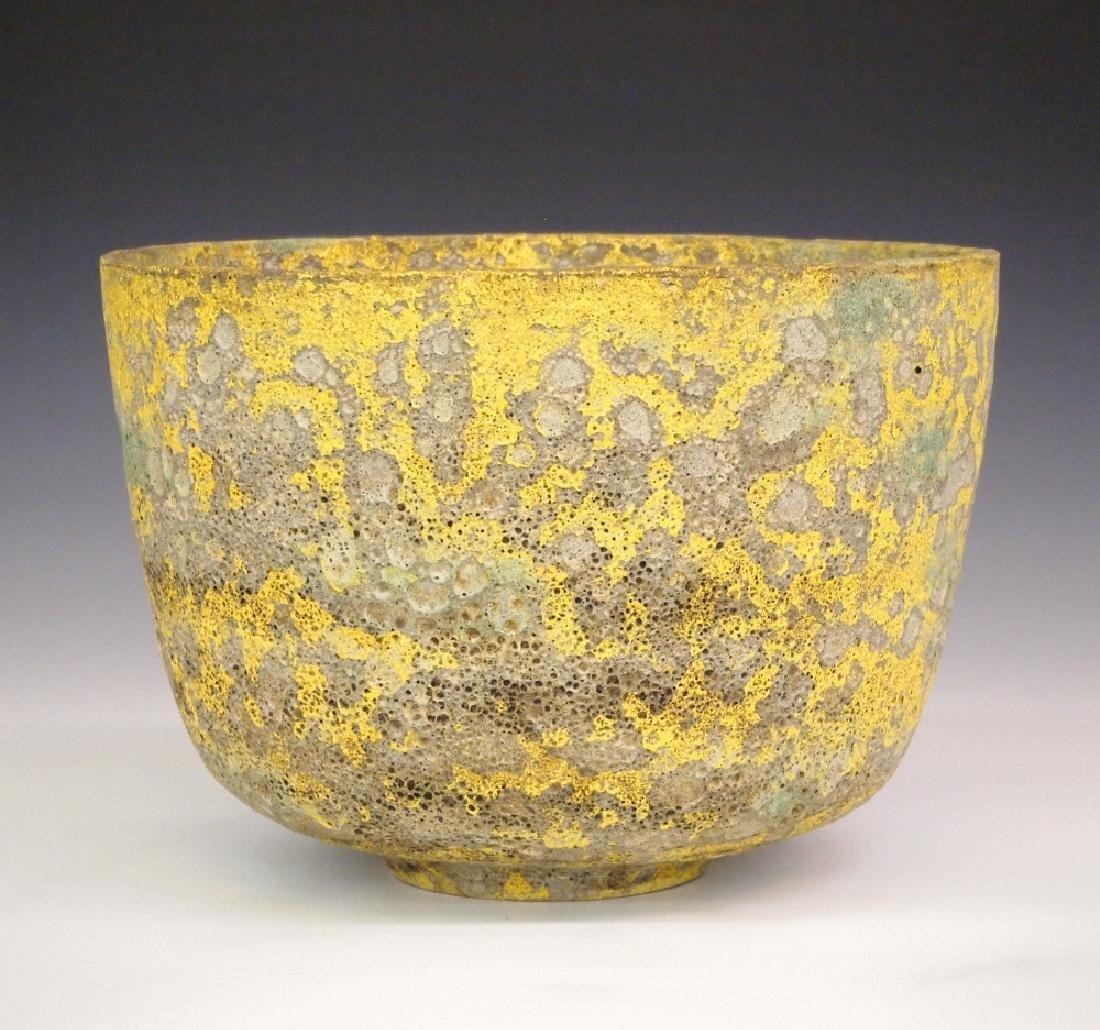 Natzler Lava glaze bowl