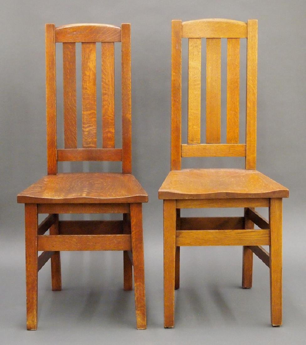 Pr of Stickley Bros. side chairs