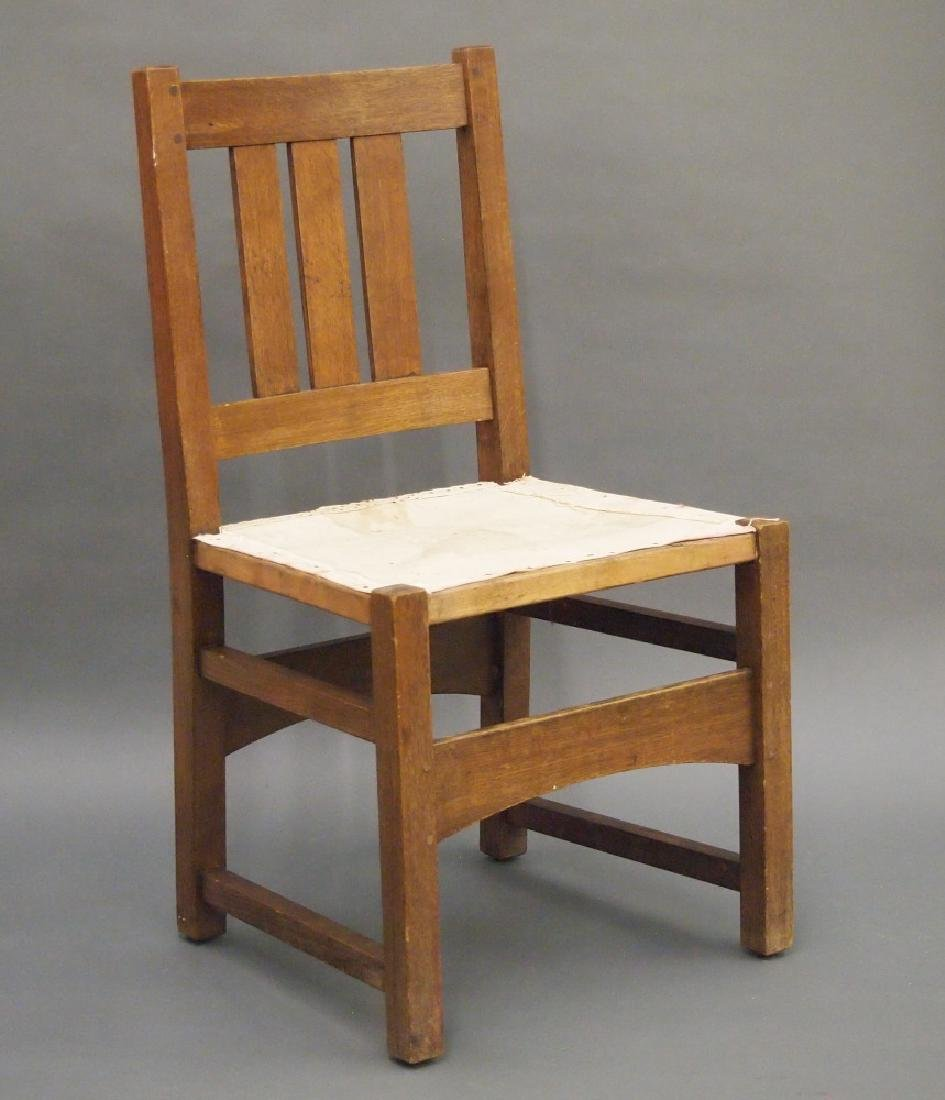 L and JG Stickley Arts and Crafts side chair