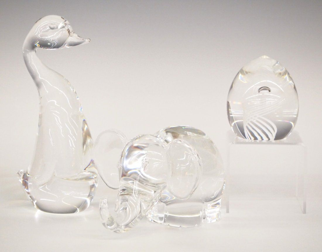 3 pc Steuben crystal