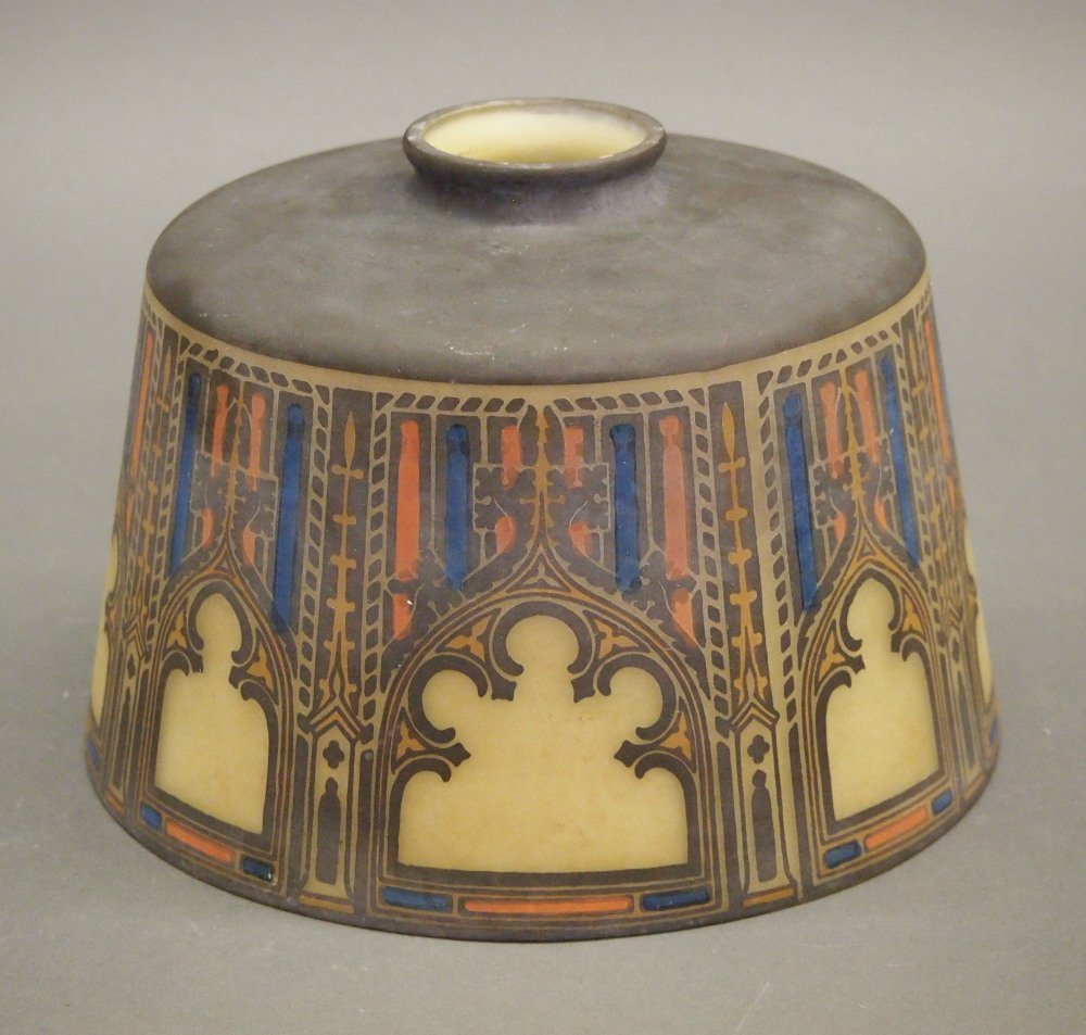 Decorated Glass Lamp Shade