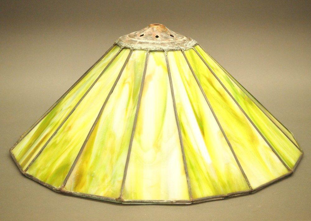 Paneled Slag Glass Lamp Shade