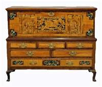 British Colonial chest on stand