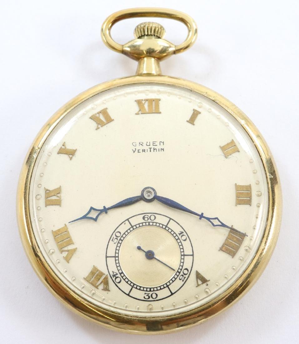 Gruen Verithin 14k Gold pocket watch
