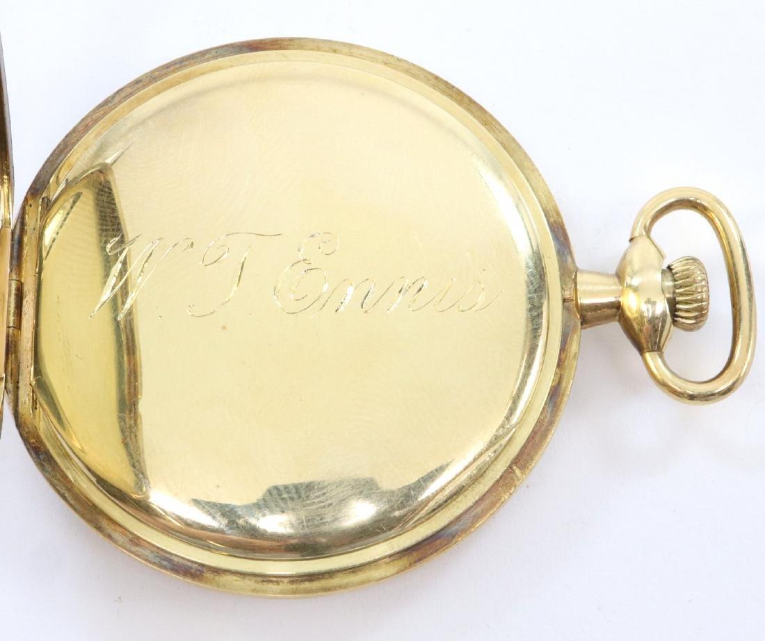 Gruen Verithin 14k Gold pocket watch - 5