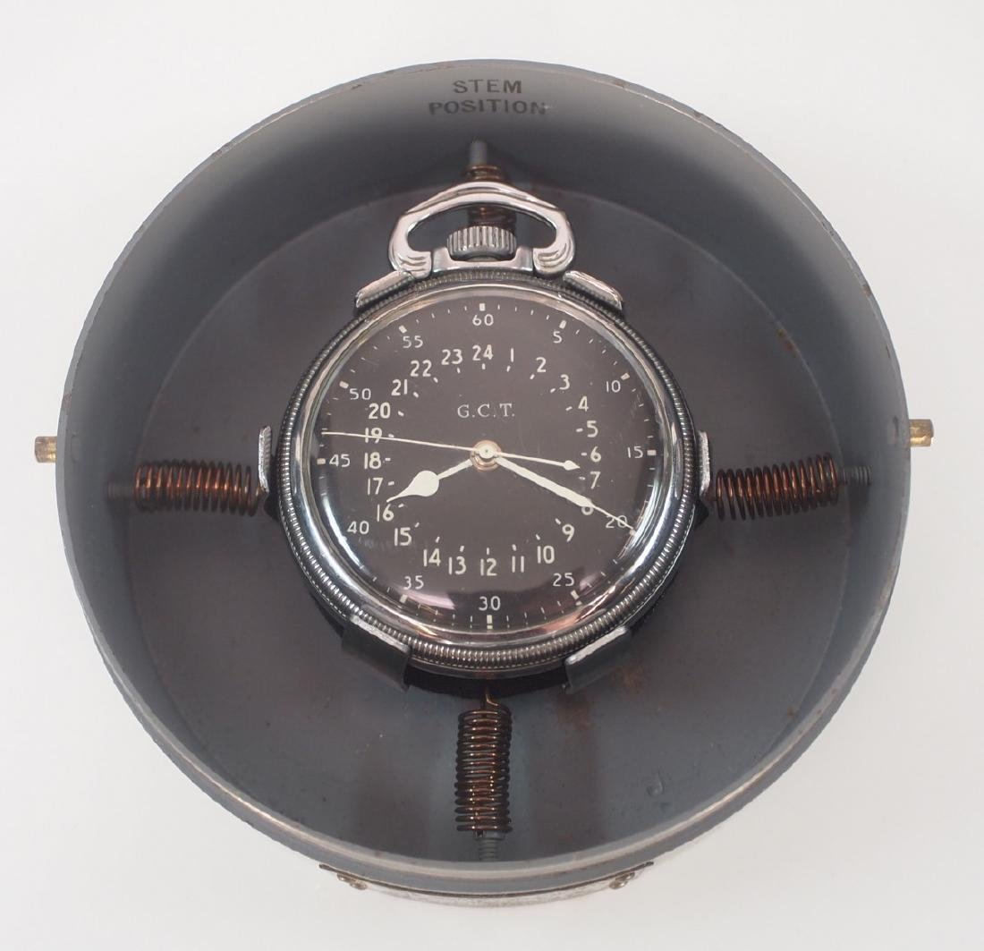 Hamilton Model 4992B Military Hack Watch with case - 2