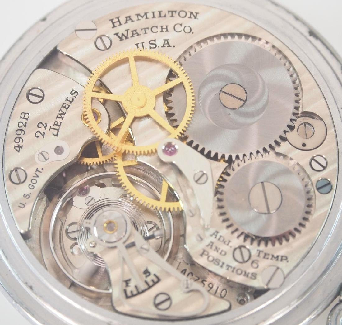 Hamilton Model 4992B Military Hack Watch with case - 4