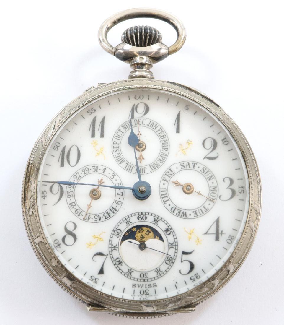 Swiss Calendar pocket watch