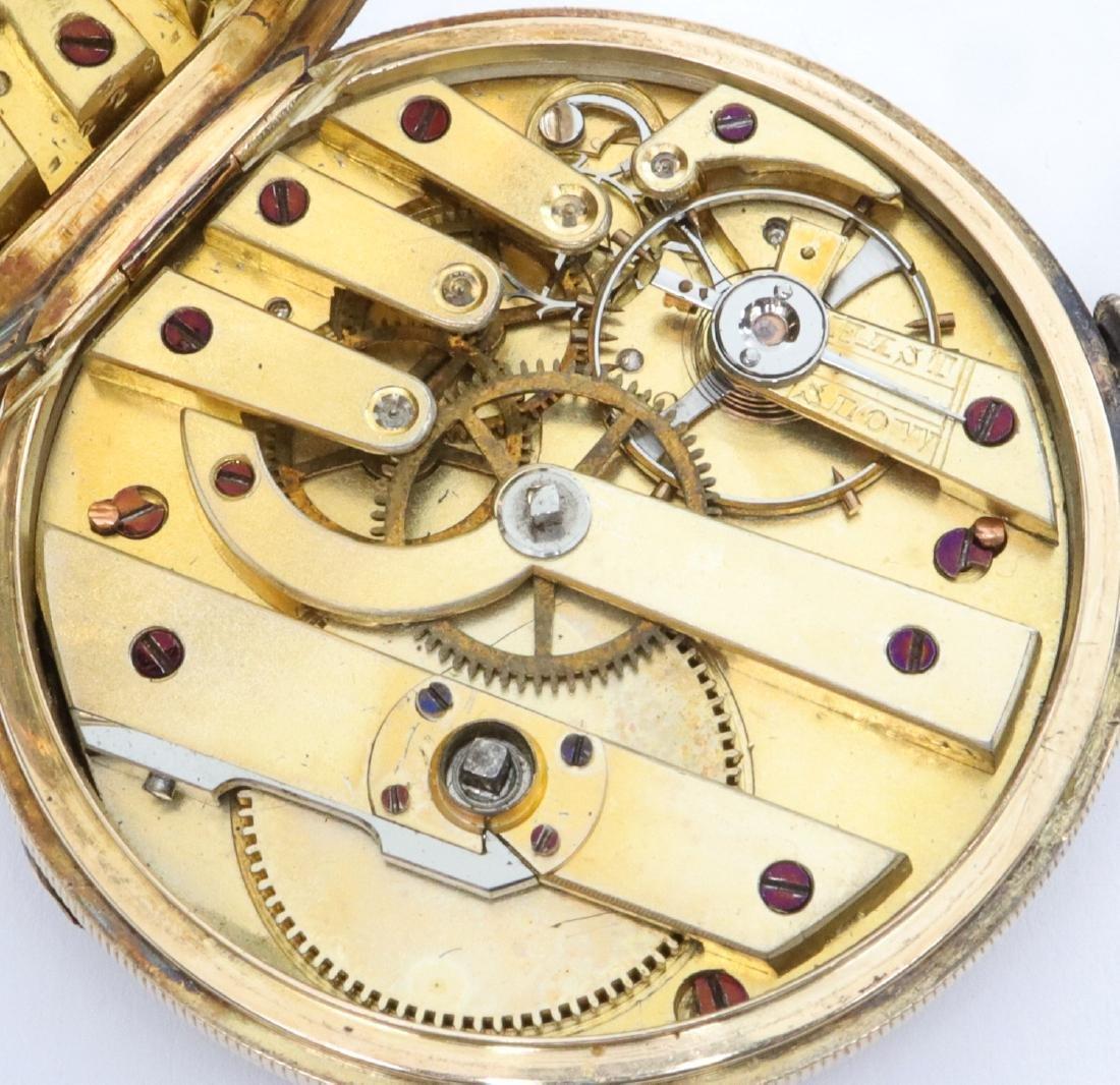 M. J. Tobias Enameled 14k Gold ladies watch - 3