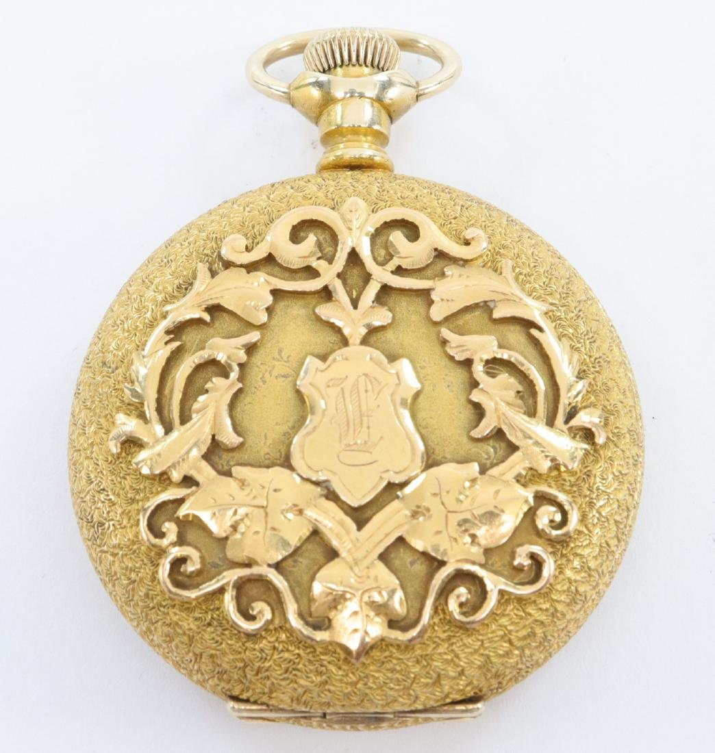 Swiss 14k Gold Private label pocket watch