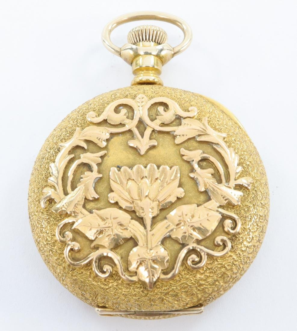 Swiss 14k Gold Private label pocket watch - 4
