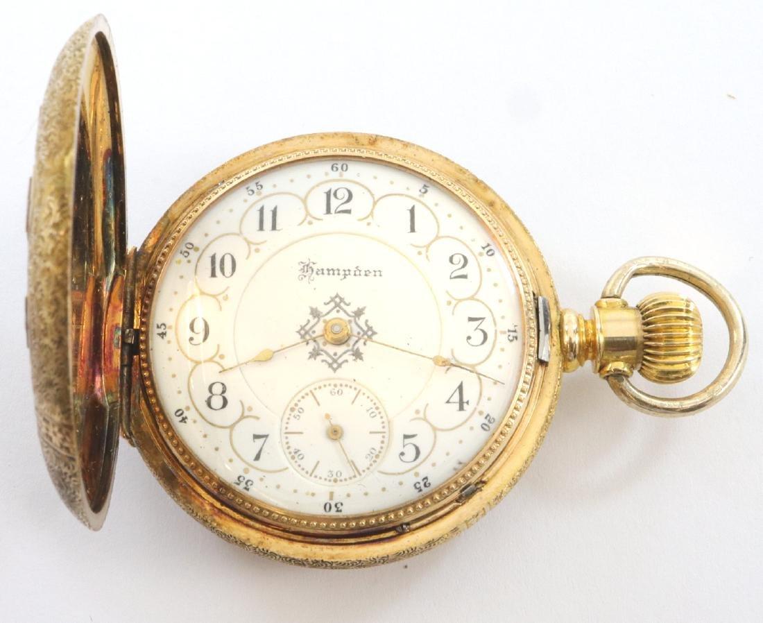 Hampden/Dueber 14k Multi-Gold pendant watch - 2