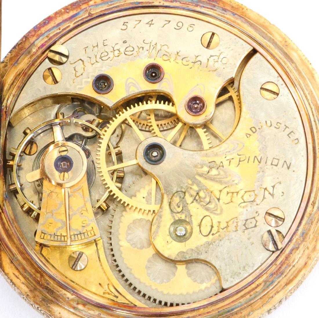 Hampden/Dueber 14k Multi-Gold pendant watch - 3