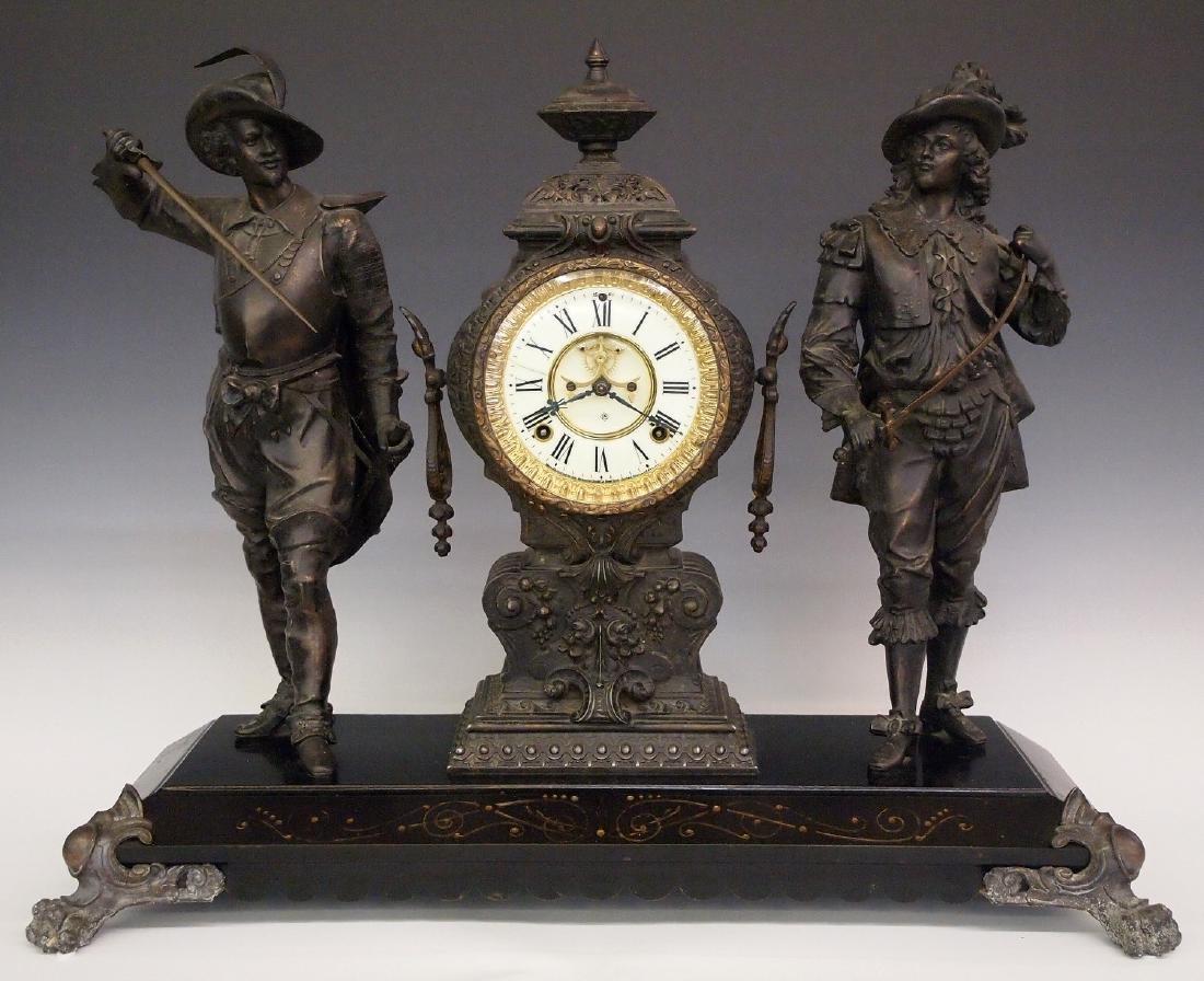 """Ansonia """"Don Caesar and Don Juan"""" figural clock"""
