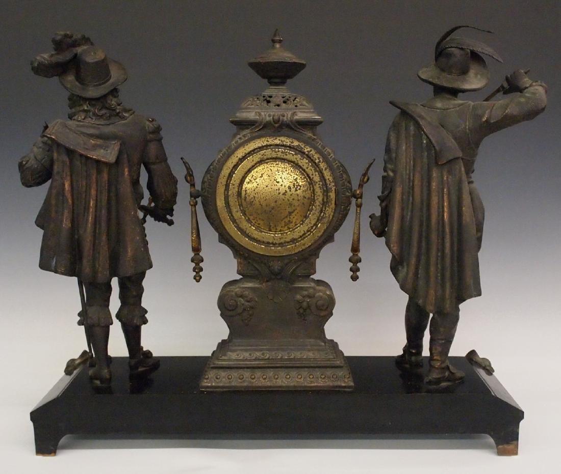 """Ansonia """"Don Caesar and Don Juan"""" figural clock - 4"""