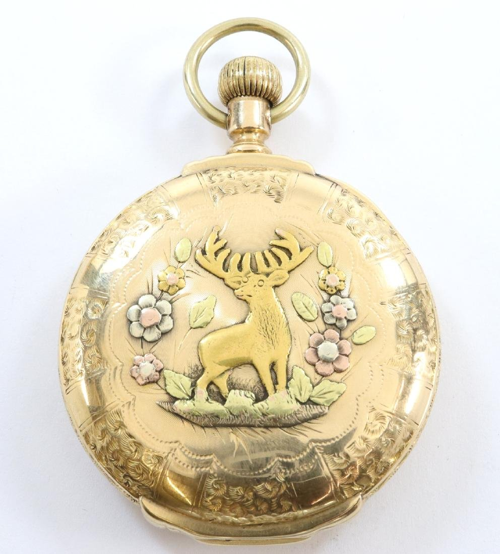 Elgin 14k multi Gold pocket watch