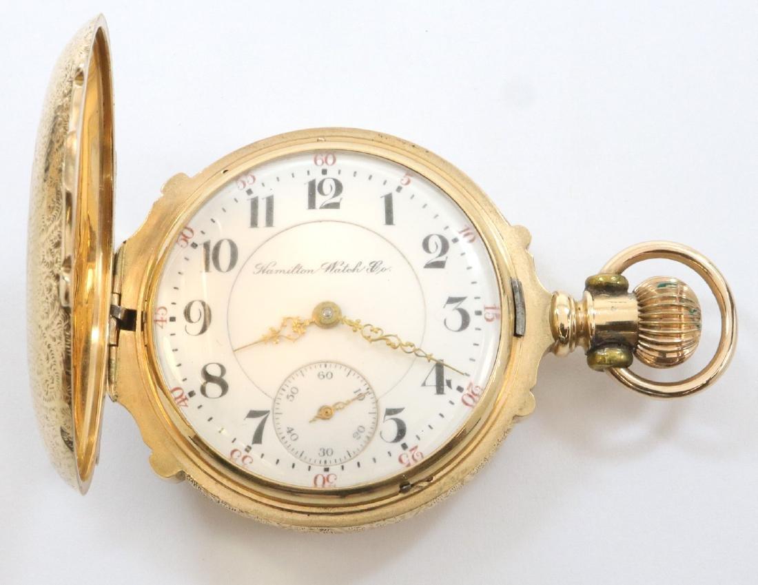 Hamilton 14k multi Gold pocket watch - 2