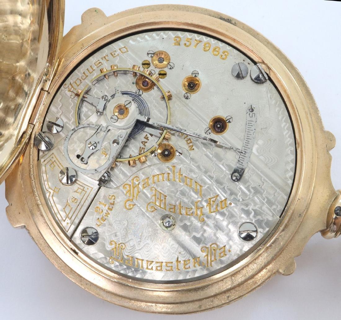 Hamilton 14k multi Gold pocket watch - 3