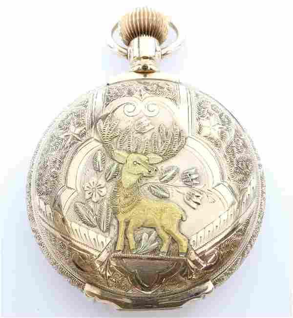 Hamilton 14k multi Gold pocket watch
