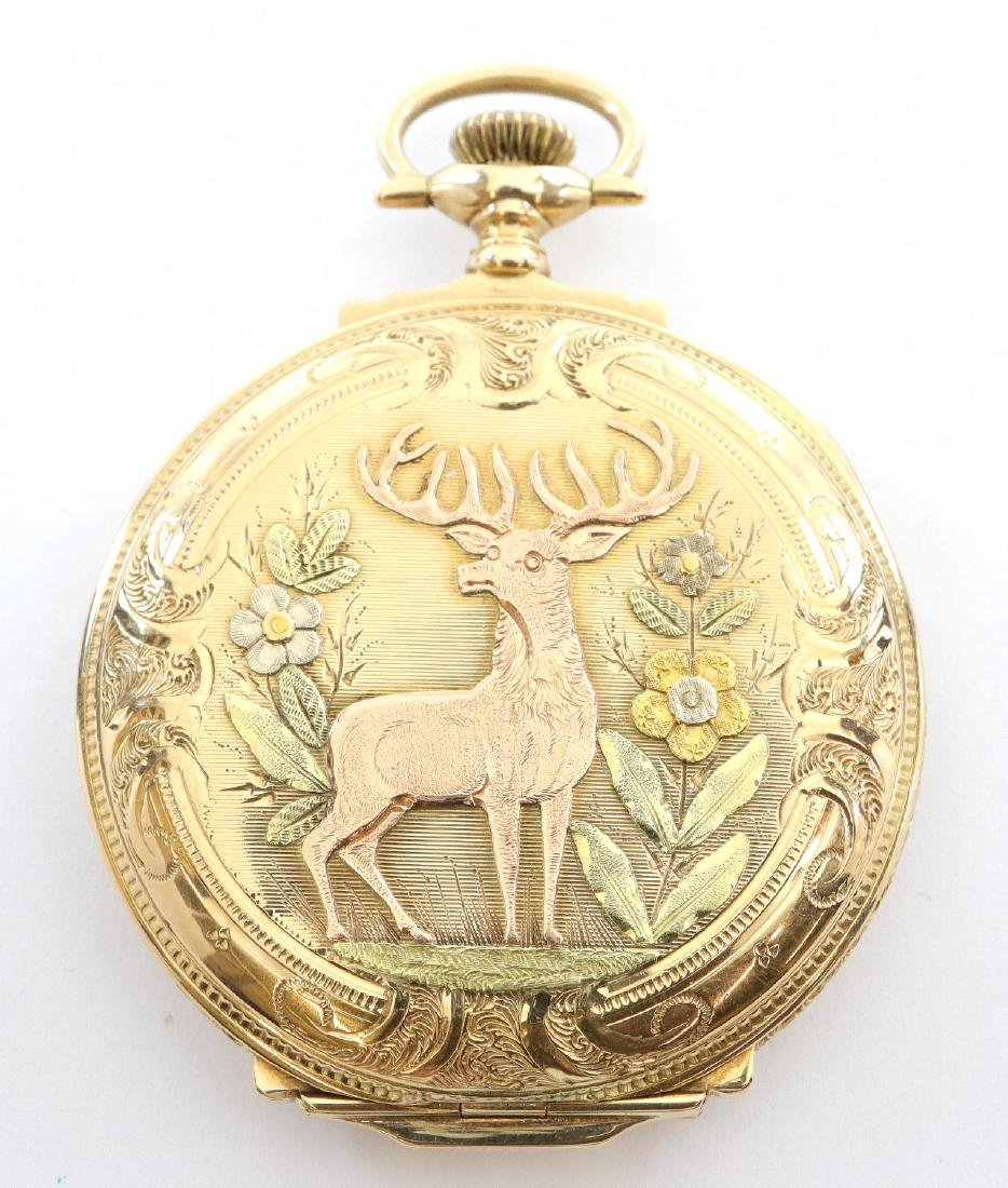 Elgin 14k multi Gold pocket watch