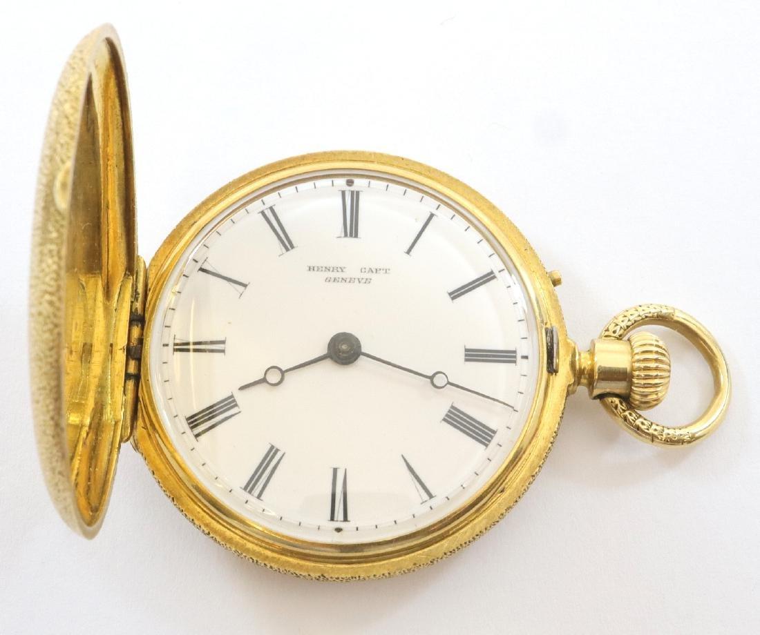 Henry Capt Enameled 18k Gold ladies watch - 2