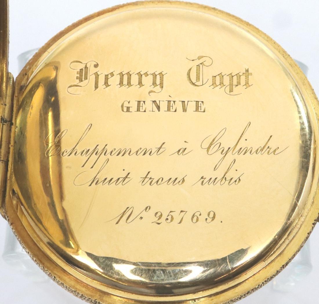Henry Capt Enameled 18k Gold ladies watch - 4