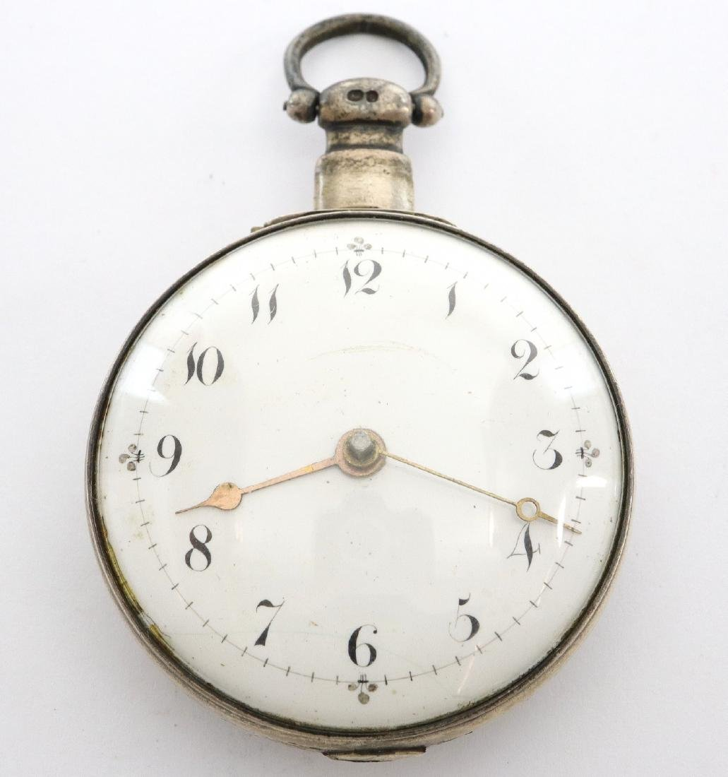 Natt. Olding Silver Pair case pocket watch - 2