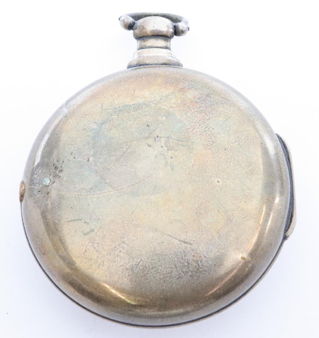 Natt. Olding Silver Pair case pocket watch - 5