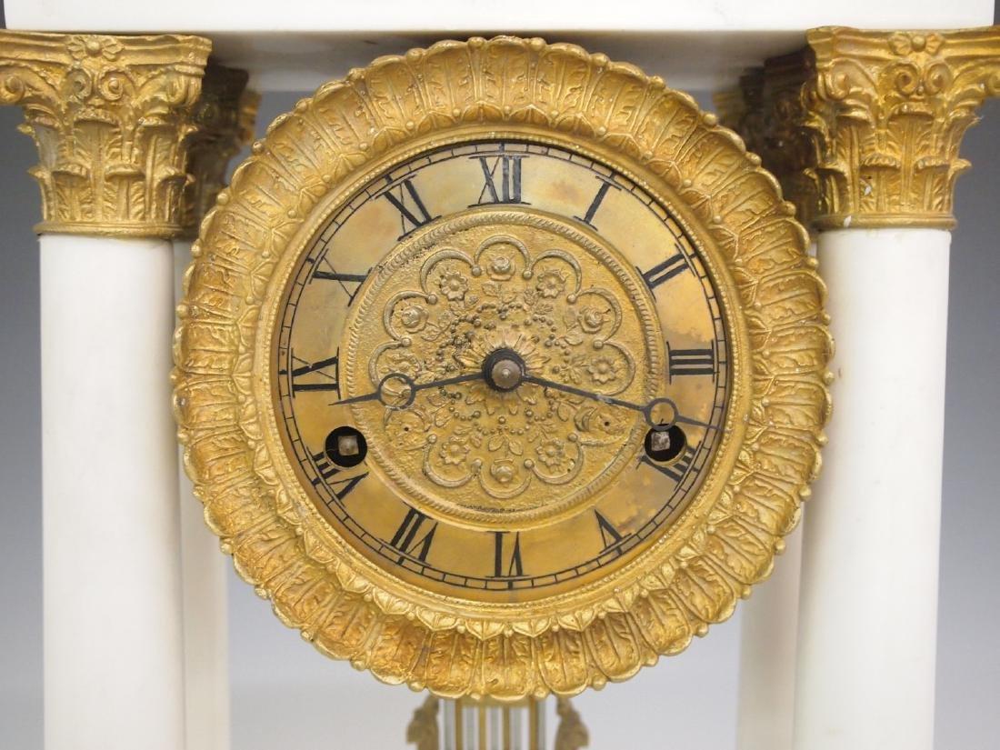 French Empire Portico clock - 2