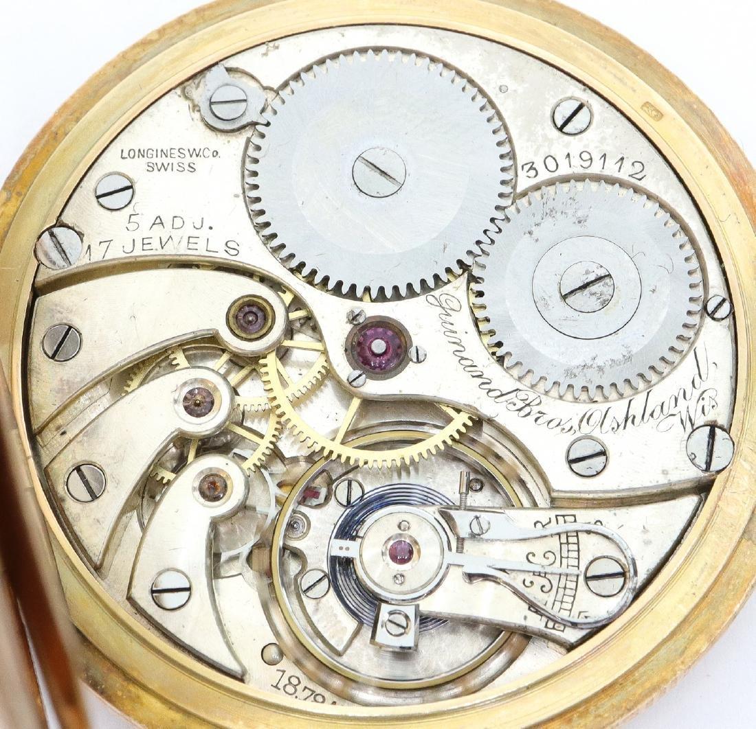 Longines 14k Gold pocket watch - 2