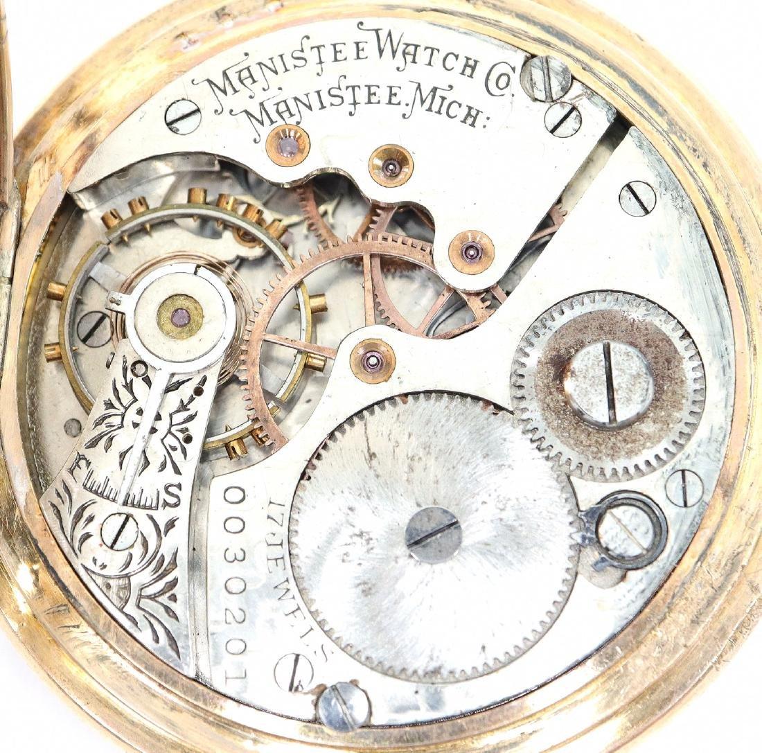 Manistee Watch Co. pocket watch - 3