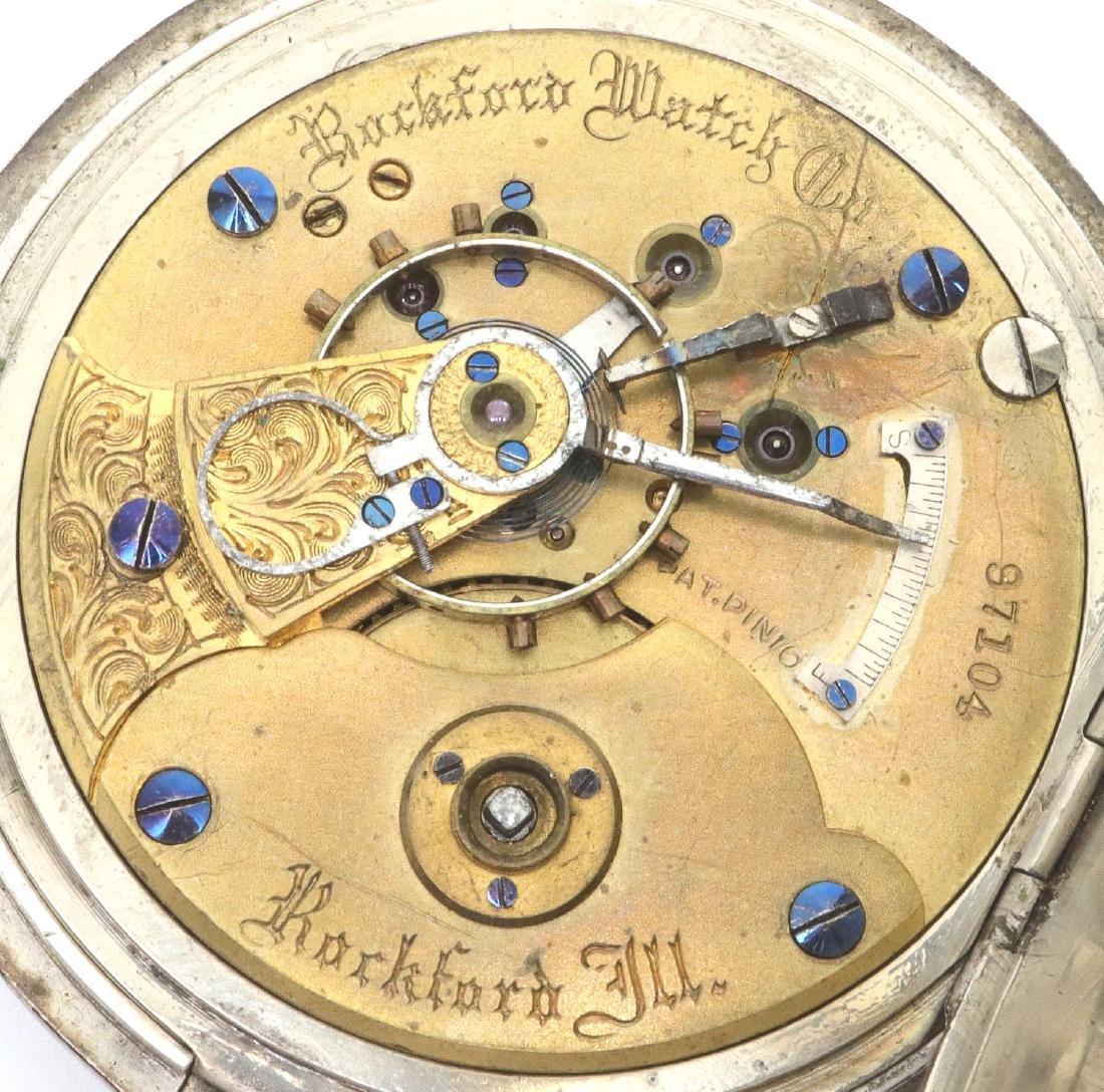 Early Rockford model 1 pocket watch - 2
