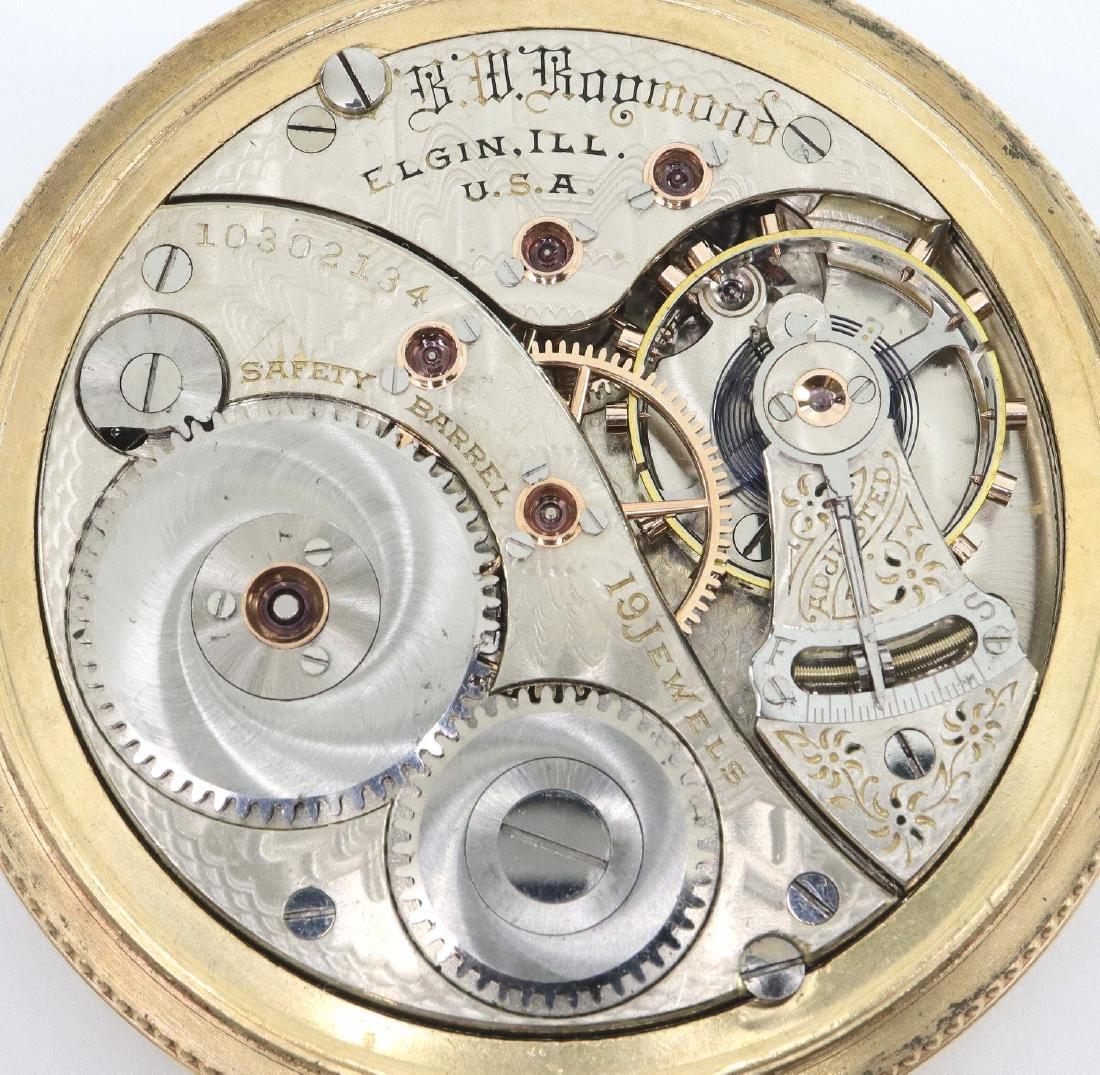 """Elgin """"B W Raymond"""" pocket watch - 2"""