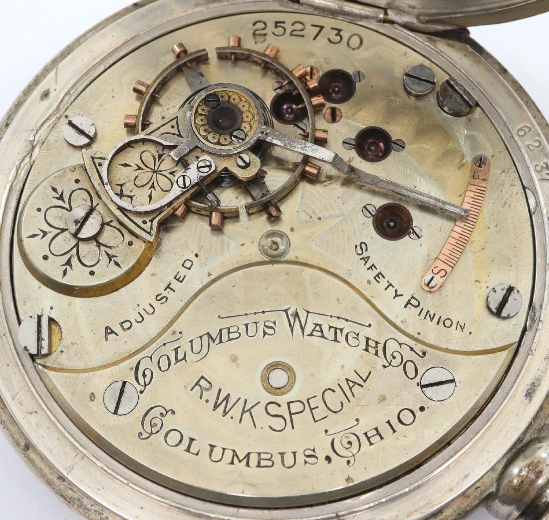 "Columbus Watch Co. ""R. W. K. Special"" pocket watch - 3"
