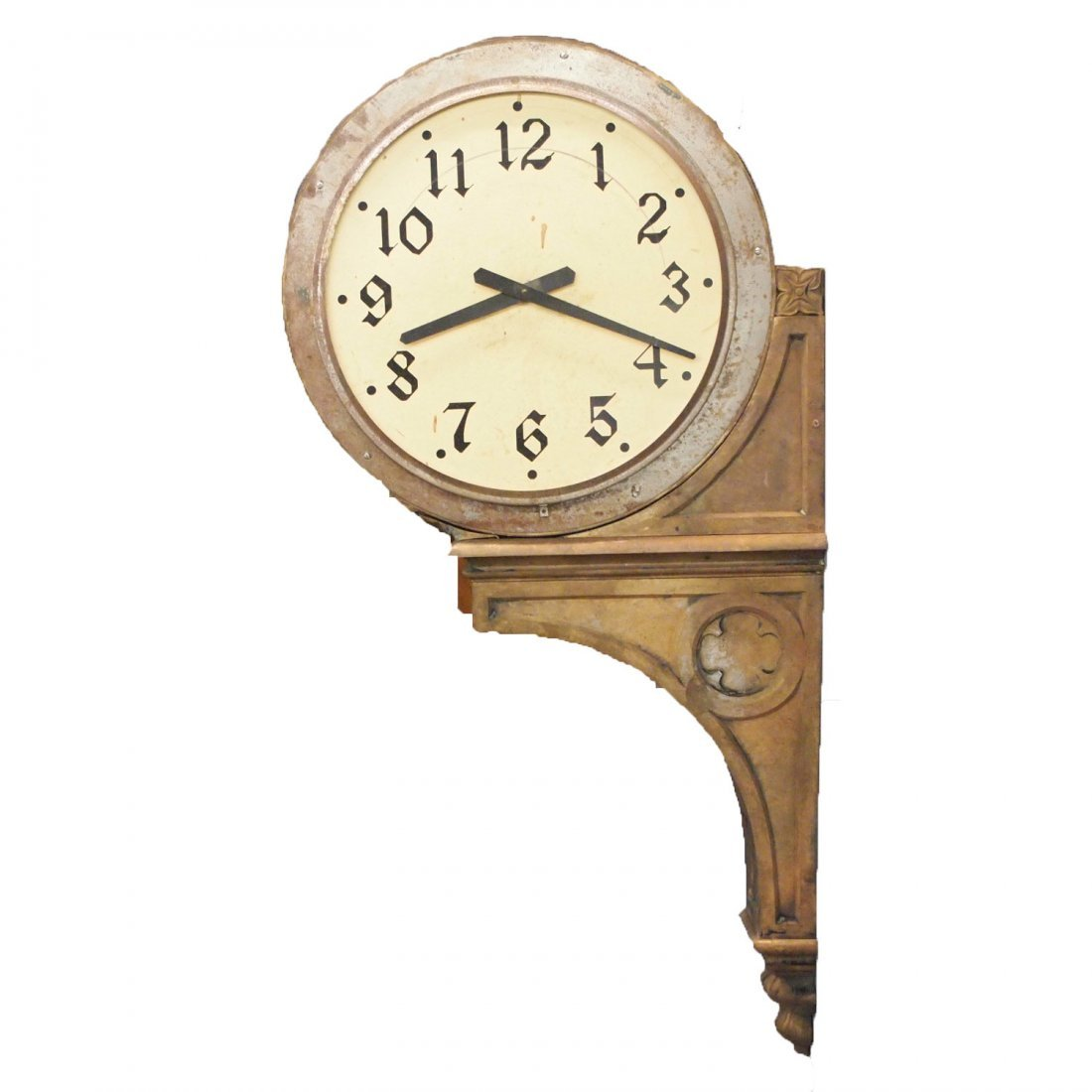 Twin dial Station clock