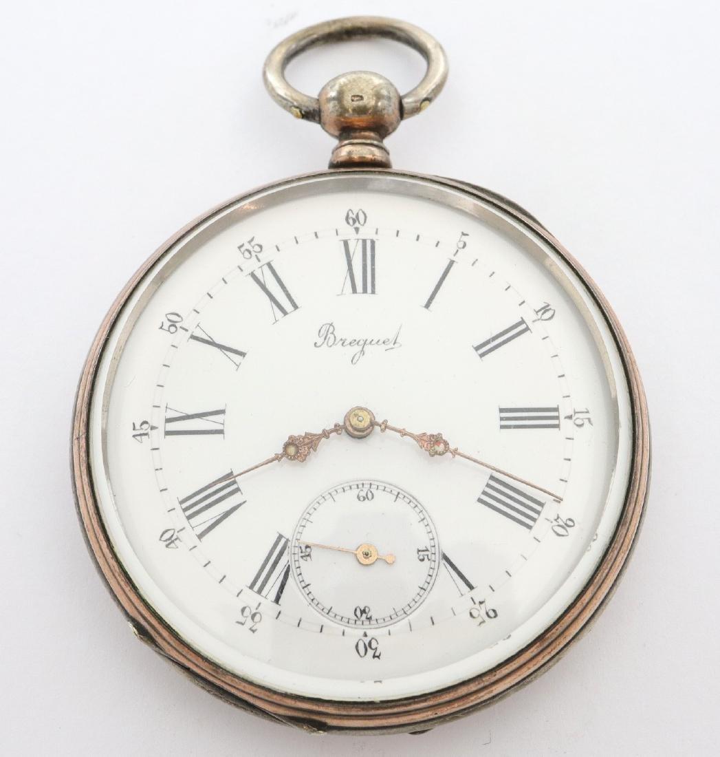 Swiss Coin Silver pocket watch