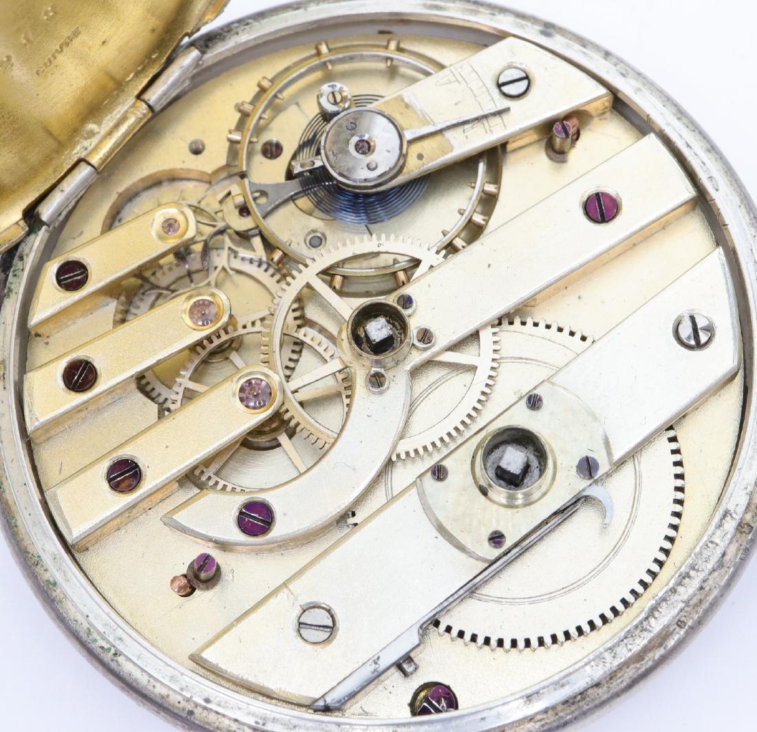 Swiss Coin Silver pocket watch - 2