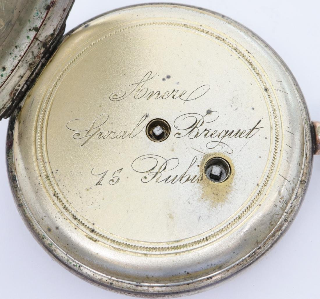 Swiss Coin Silver pocket watch - 3