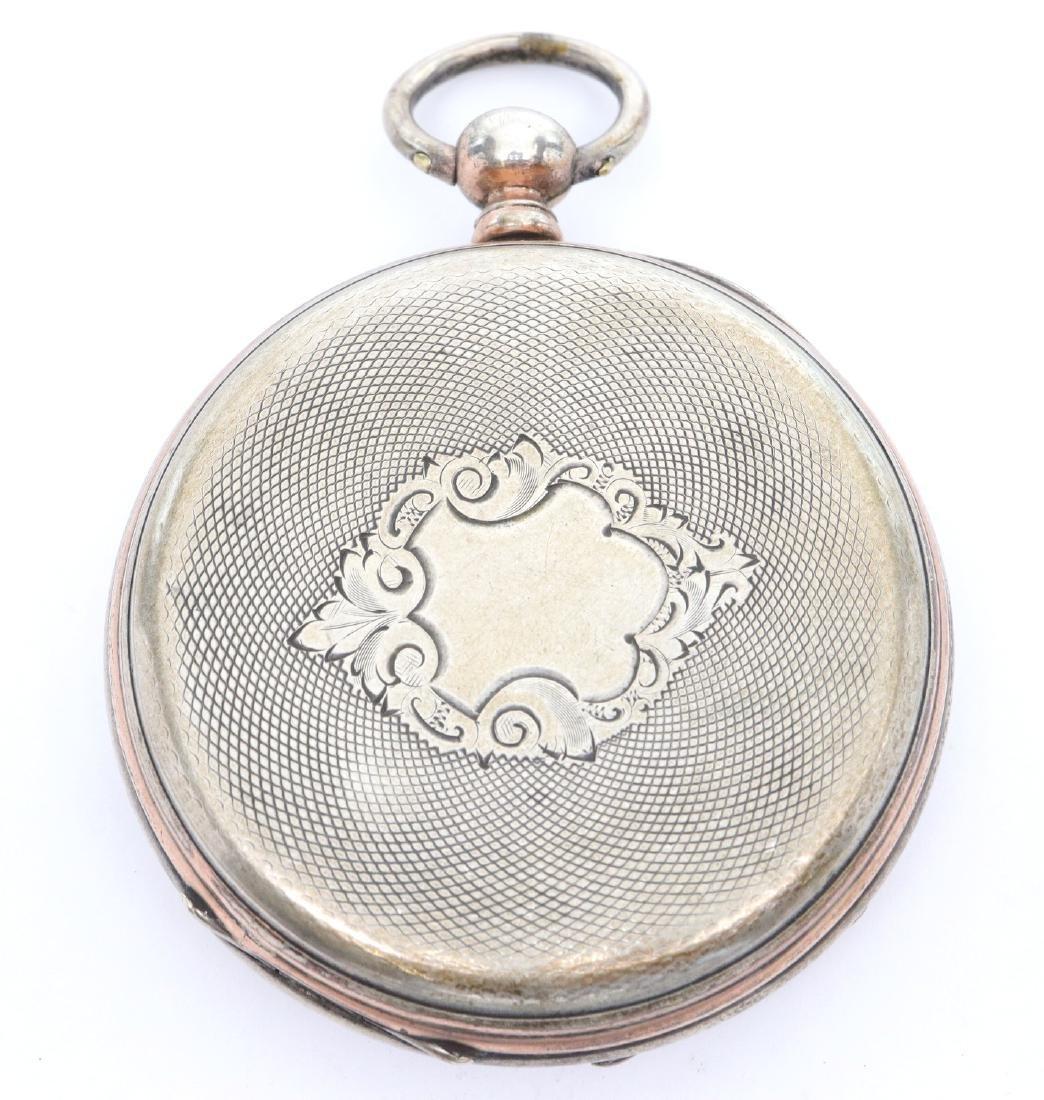 Swiss Coin Silver pocket watch - 4