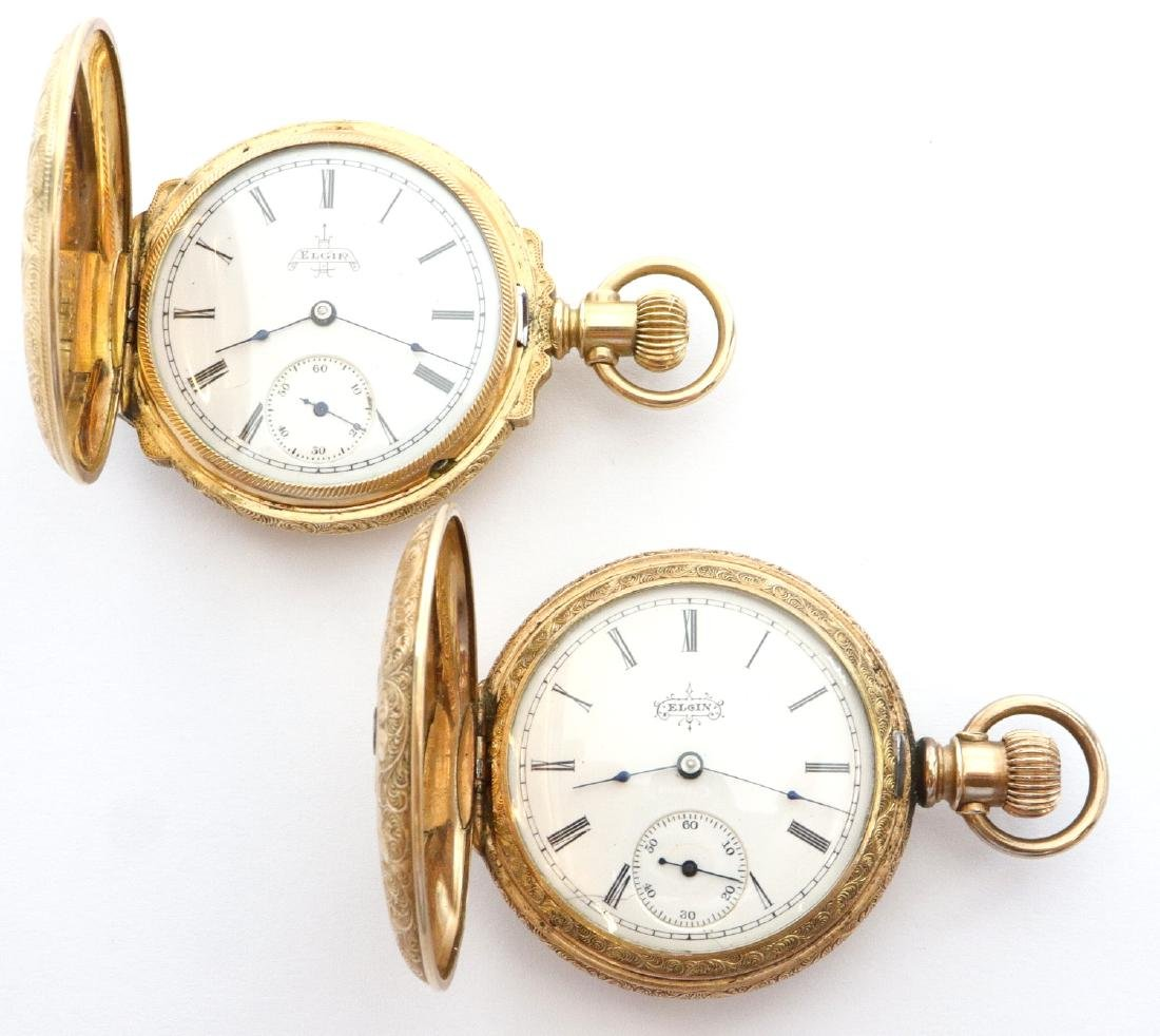 2 Elgin ladies' GF pendant watches - 2