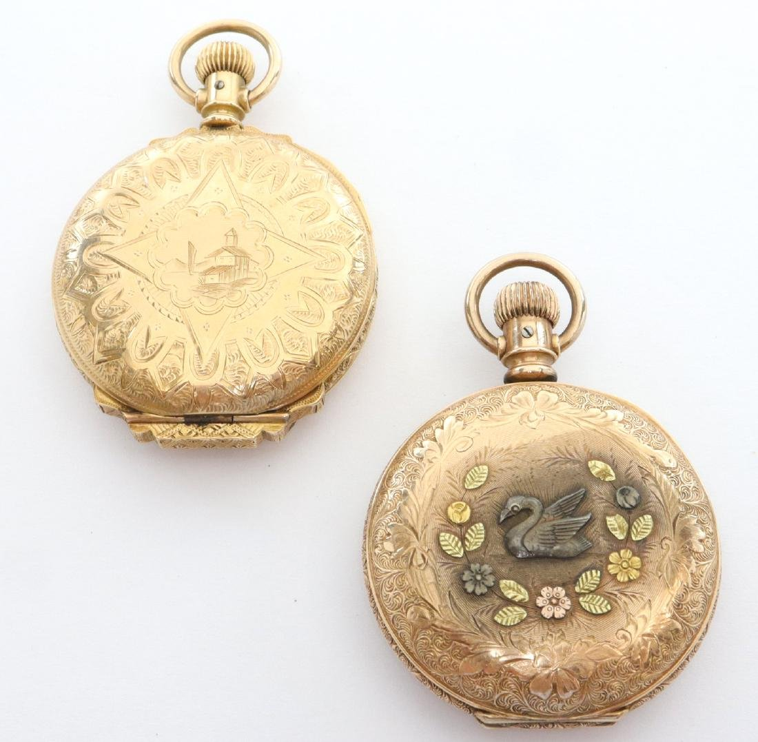 2 Elgin ladies' GF pendant watches - 4