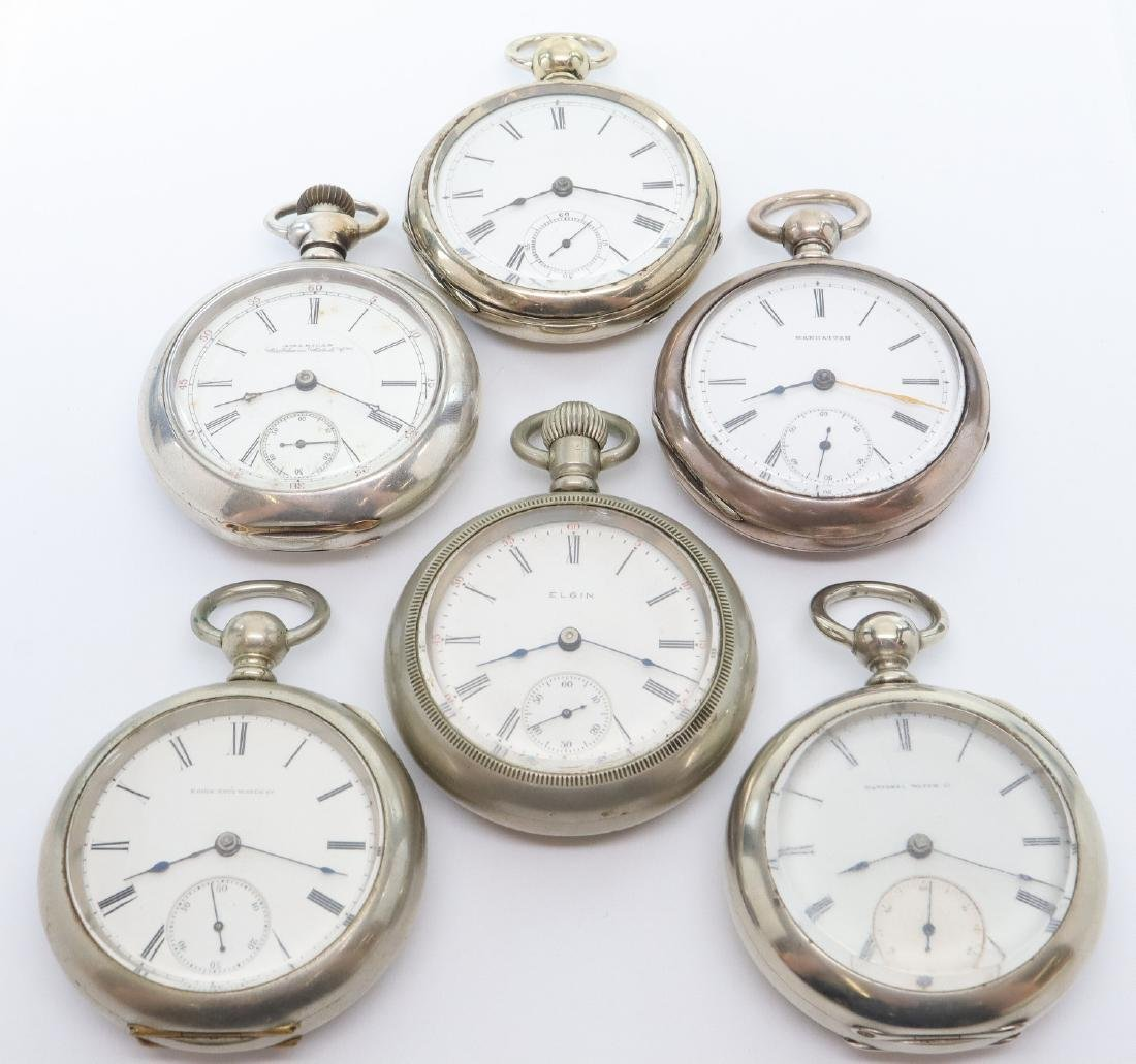 6 American pocket watches