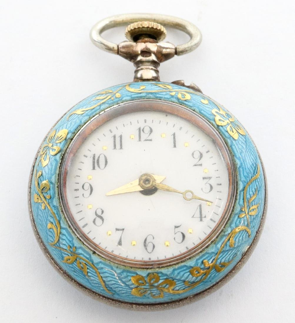 Bulova enameled pendant watch