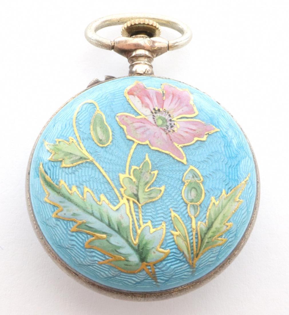 Bulova enameled pendant watch - 3