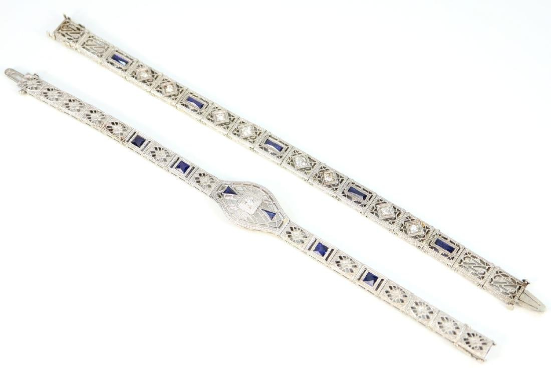 2 Gold, Sapphire & Diamond Bracelets