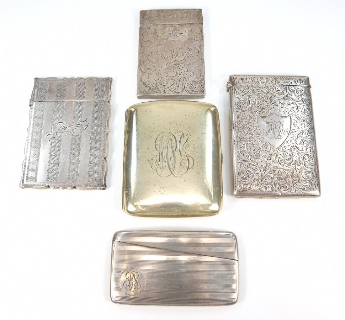 4 Card Cases & 1 Cigarette Case